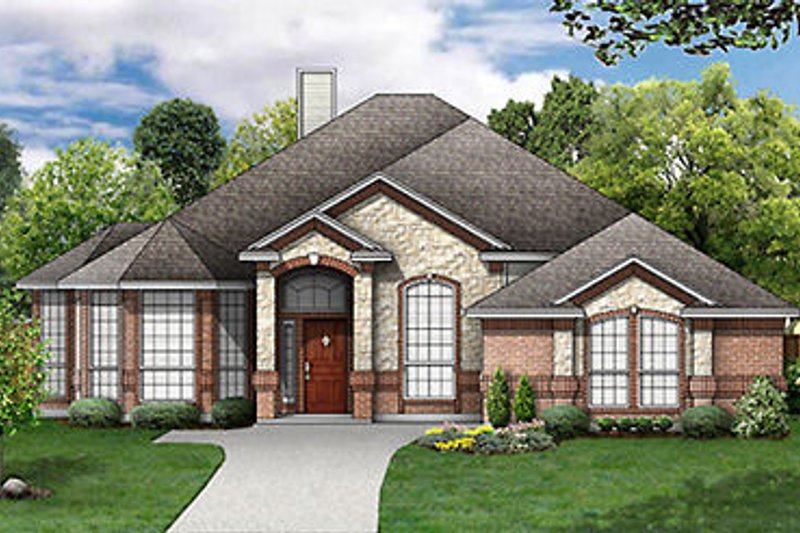 Traditional Style House Plan - 4 Beds 2 Baths 2376 Sq/Ft Plan #84-248 Exterior - Front Elevation