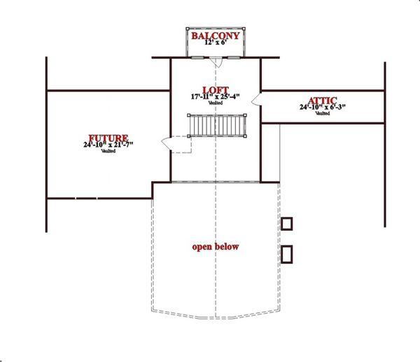 Craftsman Floor Plan - Upper Floor Plan Plan #63-342