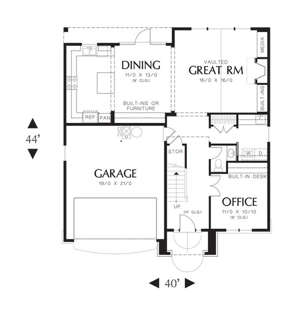 Traditional Floor Plan - Main Floor Plan Plan #48-522