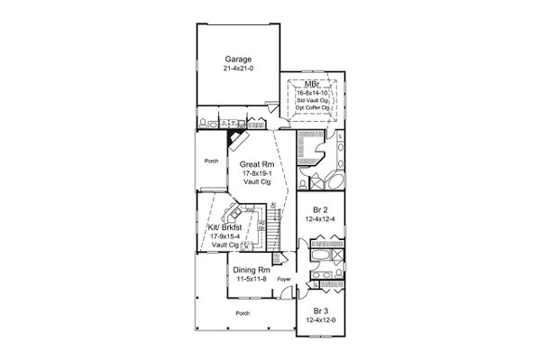 Dream House Plan - Ranch Floor Plan - Main Floor Plan #57-659