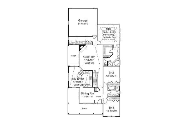 Dream House Plan - Ranch Floor Plan - Main Floor Plan #57-659