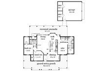 Cottage Floor Plan - Main Floor Plan Plan #45-378