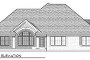 European Style House Plan - 2 Beds 2 Baths 1750 Sq/Ft Plan #70-668 Exterior - Rear Elevation