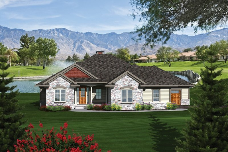Traditional Exterior - Front Elevation Plan #70-1084 - Houseplans.com