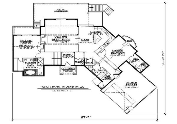 Traditional Floor Plan - Main Floor Plan Plan #5-272