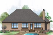Ranch Style House Plan - 3 Beds 2 Baths 1707 Sq/Ft Plan #929-592 Exterior - Rear Elevation