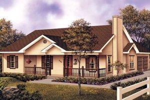 Farmhouse Exterior - Front Elevation Plan #57-117