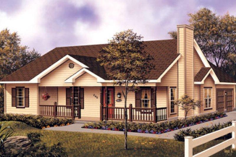Farmhouse Exterior - Front Elevation Plan #57-117 - Houseplans.com
