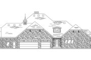 Traditional Style House Plan - 4 Beds 4.5 Baths 3449 Sq/Ft Plan #5-335 Exterior - Rear Elevation