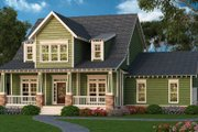 Bungalow Style House Plan - 4 Beds 2.5 Baths 2761 Sq/Ft Plan #419-294 Exterior - Front Elevation