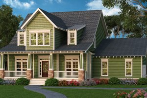 Bungalow Exterior - Front Elevation Plan #419-294