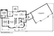 Country Style House Plan - 5 Beds 4.5 Baths 4724 Sq/Ft Plan #70-1488 Floor Plan - Main Floor Plan