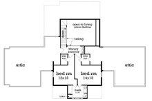 Traditional Floor Plan - Upper Floor Plan Plan #45-380