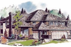 Traditional Exterior - Front Elevation Plan #18-8965