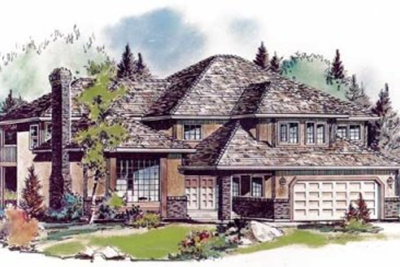 Traditional Style House Plan - 4 Beds 2.5 Baths 2729 Sq/Ft Plan #18-8965 Exterior - Front Elevation