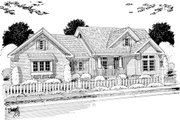 Cottage Style House Plan - 4 Beds 2 Baths 1997 Sq/Ft Plan #513-2048 Exterior - Other Elevation