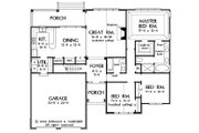 European Style House Plan - 3 Beds 2 Baths 1676 Sq/Ft Plan #929-53 Floor Plan - Main Floor Plan