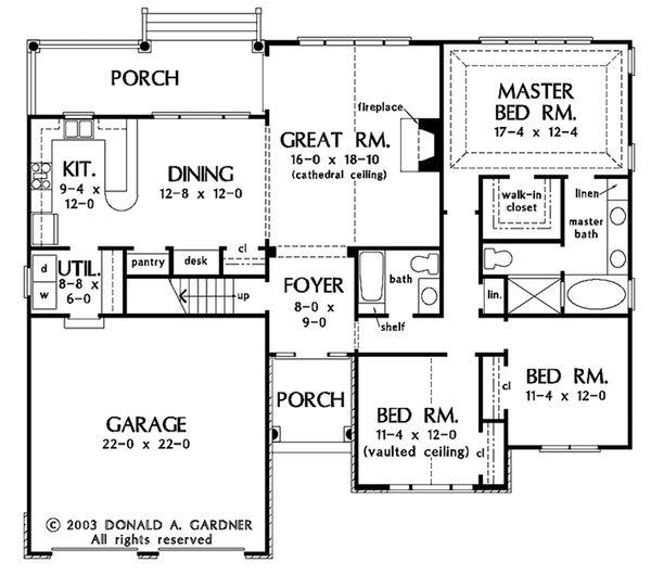 European Floor Plan - Main Floor Plan Plan #929-53