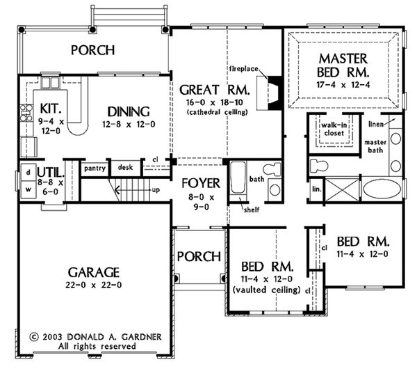 European Floor Plan - Main Floor Plan Plan #929-53