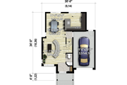 Contemporary Style House Plan - 3 Beds 1.5 Baths 1457 Sq/Ft Plan #25-4890