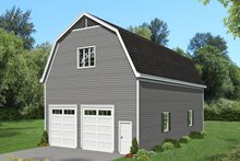 Southern Exterior - Front Elevation Plan #932-86