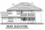 European Style House Plan - 3 Beds 2 Baths 1340 Sq/Ft Plan #18-217 Exterior - Rear Elevation