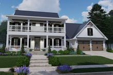 Southern Exterior - Front Elevation Plan #120-260