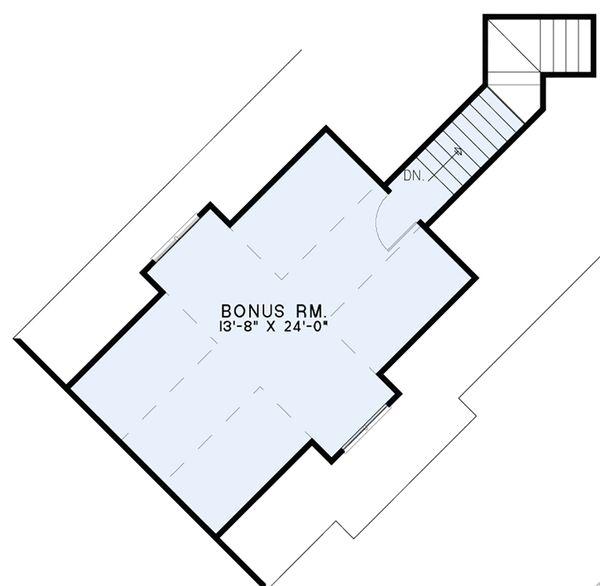 European Floor Plan - Upper Floor Plan Plan #17-2541