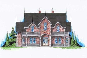 Victorian Exterior - Front Elevation Plan #5-441