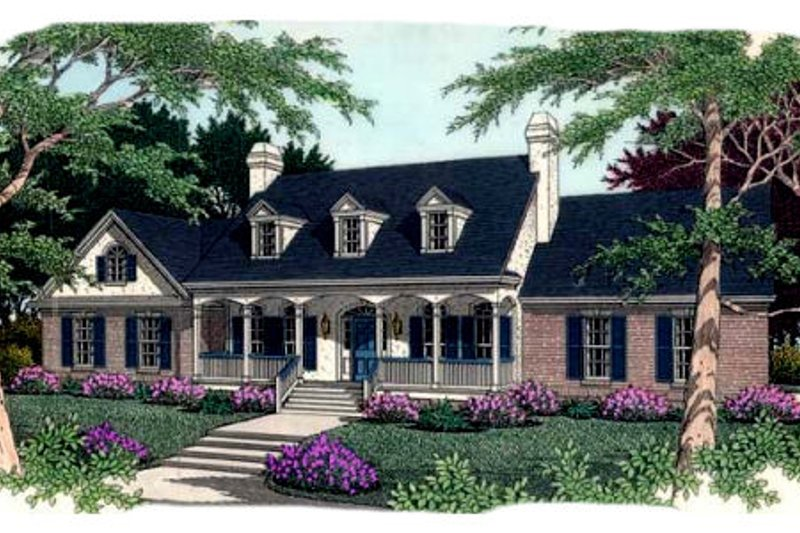 Southern Exterior - Front Elevation Plan #406-165