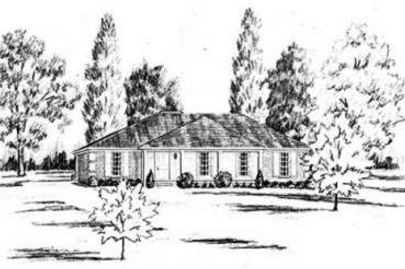 Southern Exterior - Front Elevation Plan #36-412