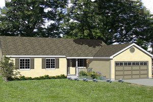 Ranch Exterior - Front Elevation Plan #116-238