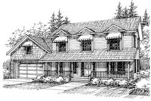 Dream House Plan - Country Exterior - Front Elevation Plan #117-529