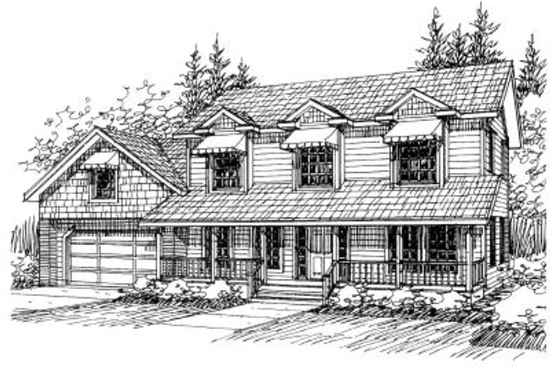 Country Exterior - Front Elevation Plan #117-529
