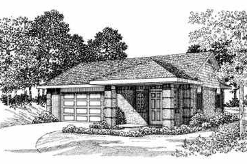 House Blueprint - Exterior - Front Elevation Plan #72-263