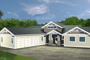 Bungalow Style House Plan - 3 Beds 2.5 Baths 2400 Sq/Ft Plan #117-574 Exterior - Front Elevation