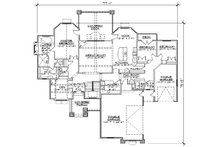 European Floor Plan - Main Floor Plan Plan #5-305