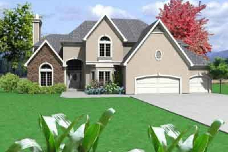 Traditional Style House Plan - 4 Beds 3.5 Baths 4214 Sq/Ft Plan #6-127