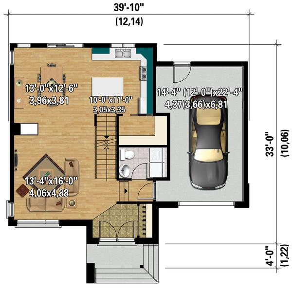 Contemporary Floor Plan - Main Floor Plan Plan #25-4294