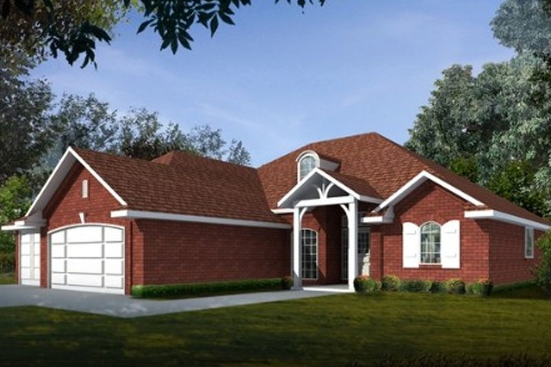 Traditional Style House Plan - 3 Beds 2 Baths 1779 Sq/Ft Plan #65-103