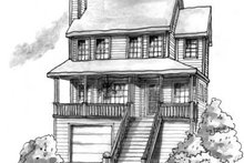 House Plan Design - Cottage Exterior - Front Elevation Plan #20-472