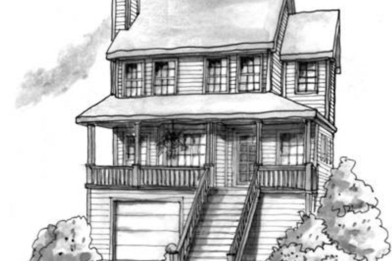 Cottage Exterior - Front Elevation Plan #20-472