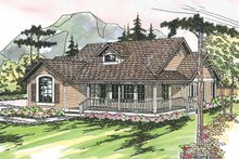 Country Exterior - Front Elevation Plan #124-164