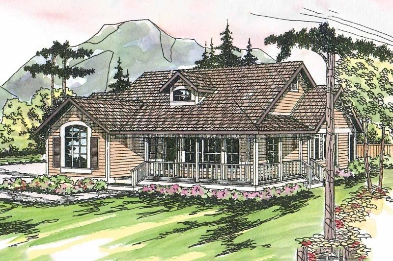 Country Style House Plan - 3 Beds 2 Baths 1901 Sq/Ft Plan #124-164