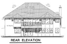 House Blueprint - European Exterior - Rear Elevation Plan #18-165