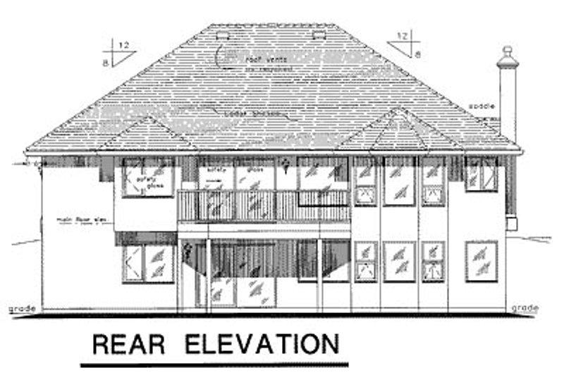 European Exterior - Rear Elevation Plan #18-165 - Houseplans.com