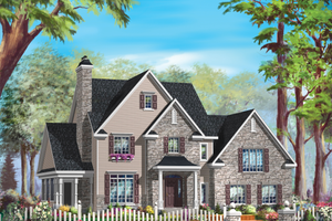 Traditional Exterior - Front Elevation Plan #25-4795