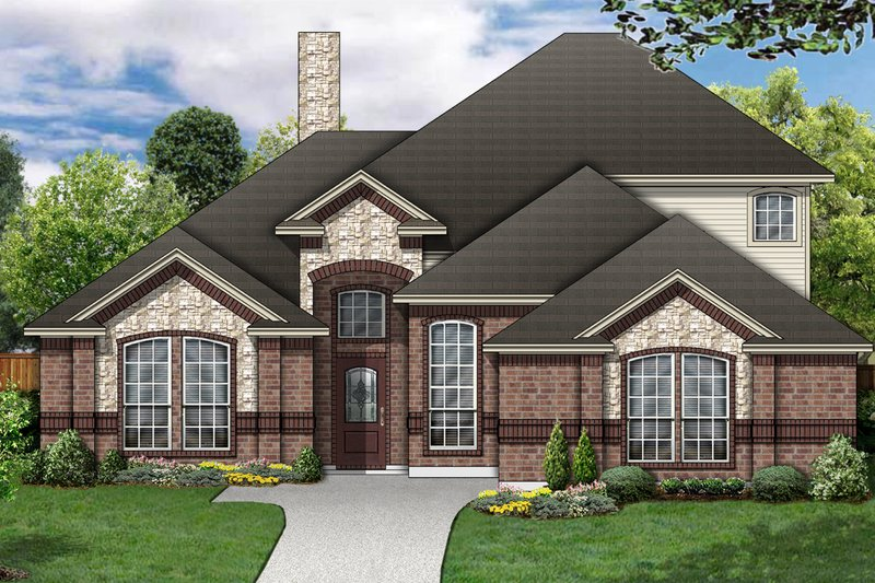 Traditional Exterior - Front Elevation Plan #84-458 - Houseplans.com