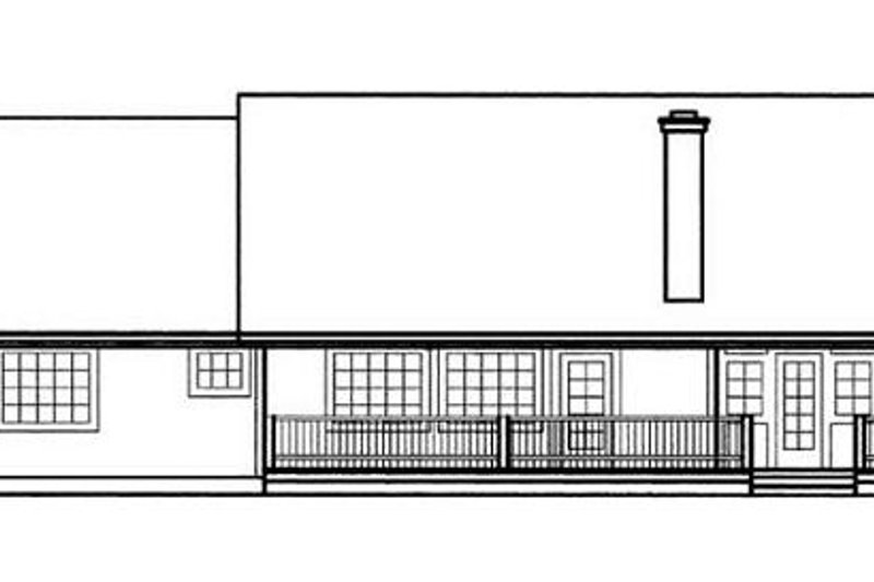 Ranch Exterior - Rear Elevation Plan #60-574 - Houseplans.com