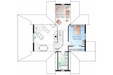 Country Floor Plan - Upper Floor Plan Plan #23-757